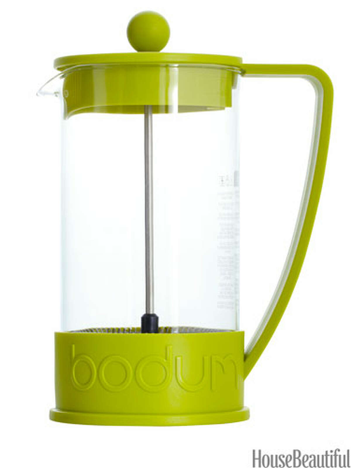 French Press The classic coffee maker in a fresh green. Brazil French Press, $20. bodum.com