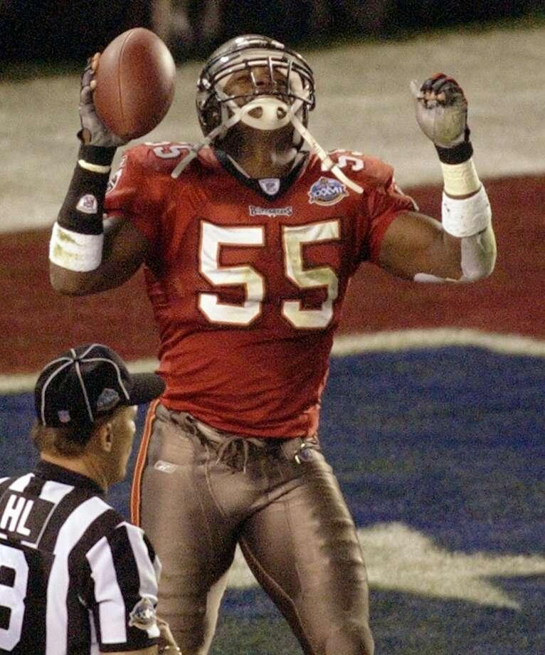 Derrick BrooksLinebacker; Tampa Bay Buccaneers (1995-2008) Photo: Elaine Thompson, Associated Press