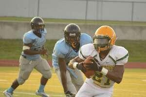 Rodrick Bernard makes a run for Sharpstown High School vs Sterling.