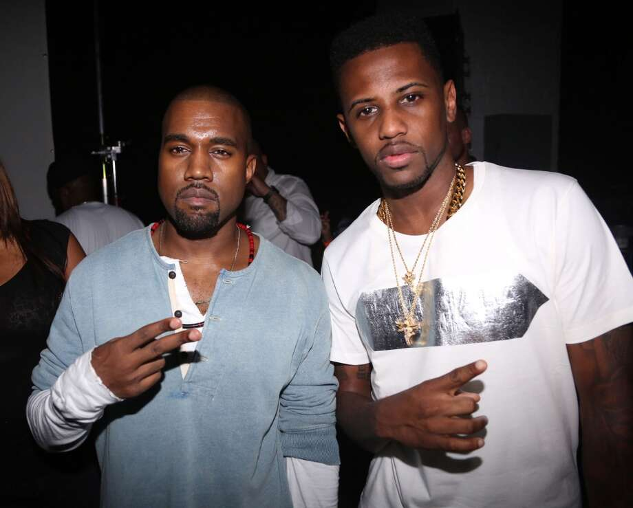 "(L-R) Kanye West and Fabolous attend the ""MNIMN"" listening event at Industria Superstudio on September 11, 2013 in New York City.  (Photo by Johnny Nunez/WireImage) Photo: Johnny Nunez, WireImage"