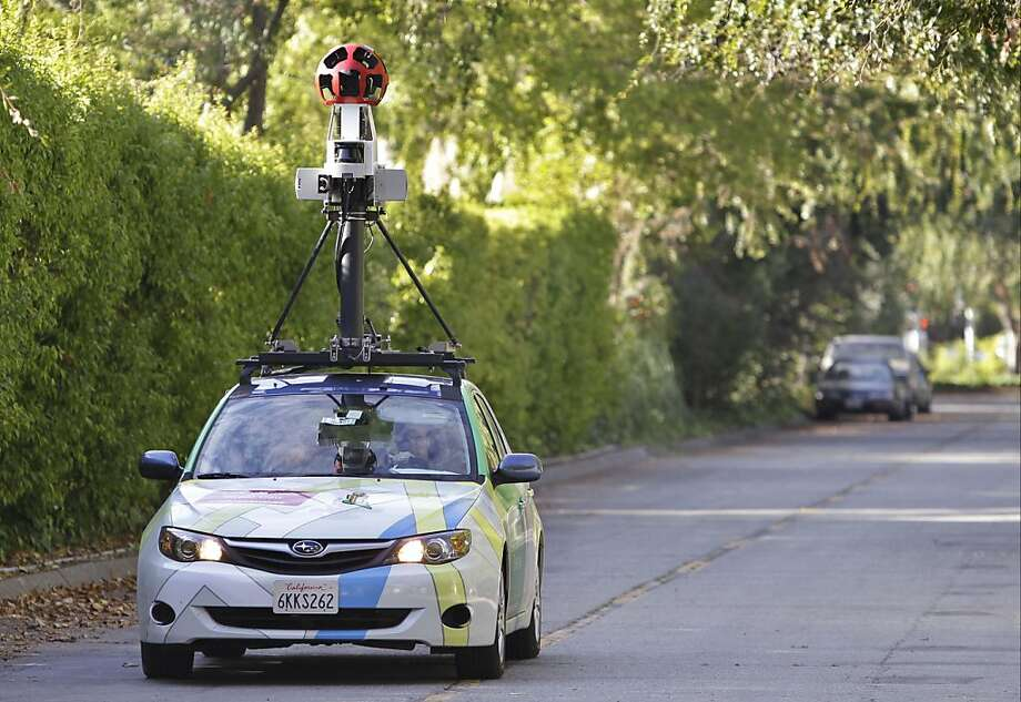 Google has drawn fire for using its Street View cars to collect e-mails, photos, documents and other private information transmitted over Wi-Fi networks. Photo: Paul Sakuma, Associated Press