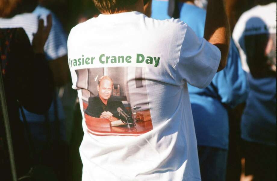 Fan wearing a Frasier Crane Day shirt. Photo: Alice S. Hall, - / © NBC Universal, Inc.