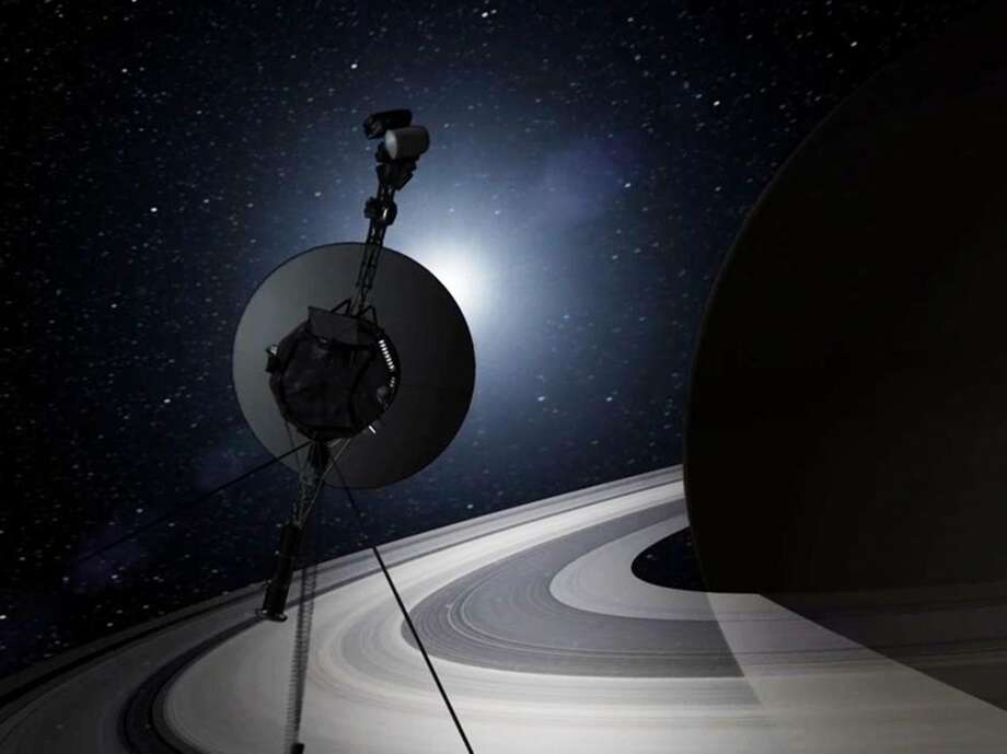 This artists rendering provided by NASA shows the Voyager spacecraft. Thirty-five years after leaving Earth, Voyager 1 is reaching for the stars. Sooner or later, the workhorse spacecraft will bid adieu to the solar system and enter a new realm of space _ the first time a man-made object will have escaped to the other side. (AP Photo/NASA) Photo: Associated Press