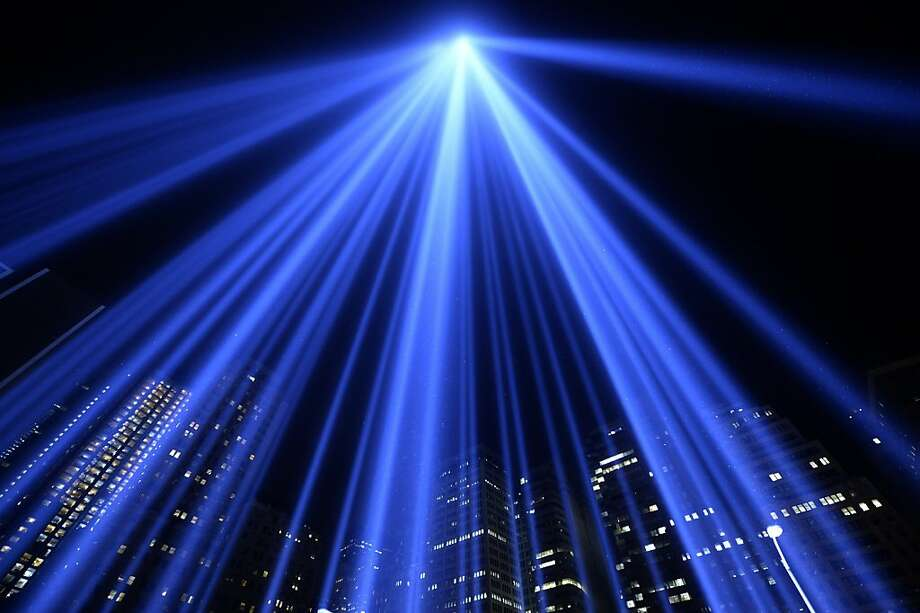 The Tribute in Light illuminates the sky in New York on the 12th anniversary of the September 11 attacks on the 
