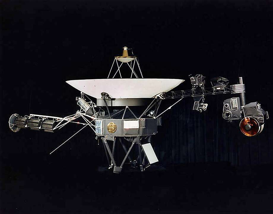 "(FILES)This NASA file image obtained August 9, 2002 shows one of the two Voyager spacecraft. Never before has a human-built spacecraft traveled so far. NASA's Voyager 1 probe has officially left the solar system and is now wandering the galaxy, US scientists said September 12, 2013. The spacecraft was launched in 1977 on a mission to explore the outer planets of the solar system, and to possibly journey into the unknown depths of outer space.   AFP PHOTO/NASA/ FILES                             = RESTRICTED TO EDITORIAL USE - MANDATORY CREDIT "" AFP PHOTO / NASA "" - NO MARKETING NO ADVERTISING CAMPAIGNS - DISTRIBUTED AS A SERVICE TO CLIENTS =HO/AFP/Getty Images Photo: Ho, AFP/Getty Images"