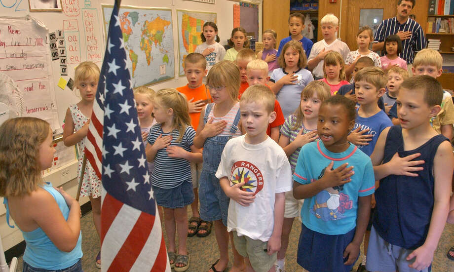 A reader comments on the importance of the Pledge of Allegiance, for both children and adults, in unifying us as a nation. Photo: Associated Press File Photo