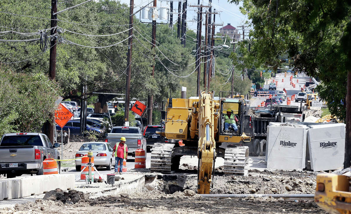 A view of construction on Hildebrand Avenue near the intersection with Broadway Thursday Sep. 12, 2013.