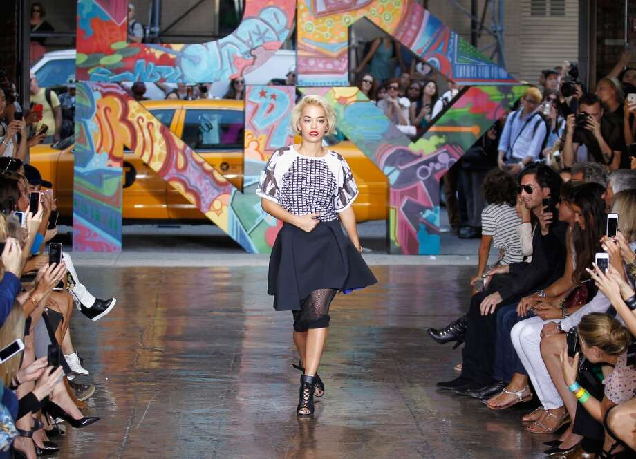 Rita Ora walks the runway at DKNY Women's Spring 2014 fashion show dring Mercedes-Benz Fashion Week Spring 2014 on September 8, 2013 in New York City.  (Photo by Peter Michael Dills/Getty Images) Photo: Peter Michael Dills, Getty Images