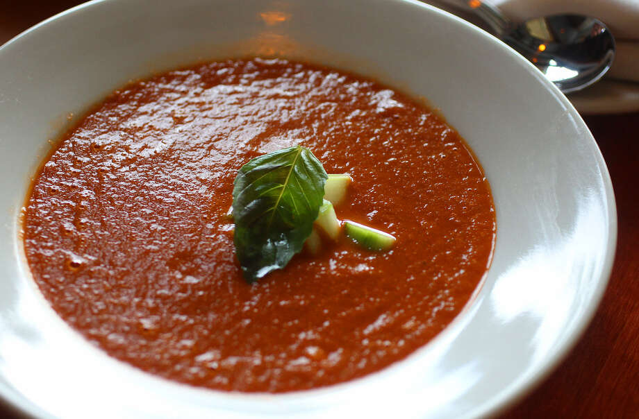 Luce's chilled tomato basil soup, or Zuppa di Tomato Freddo, can be made year-round with canned San Marzano tomatoes. Photo: John Davenport / San Antonio Express-News