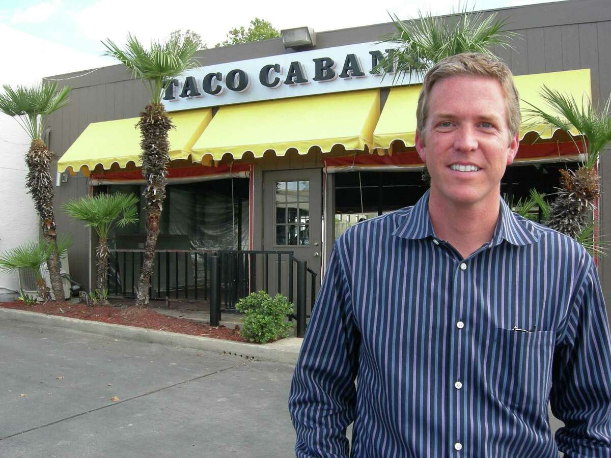 COO Todd Coerver stands in front of Taco Cabana's San Pedro and Hildebrand location, which is restored to how it looked when it opened in 1978 in honor of the brand's 35th anniversary.