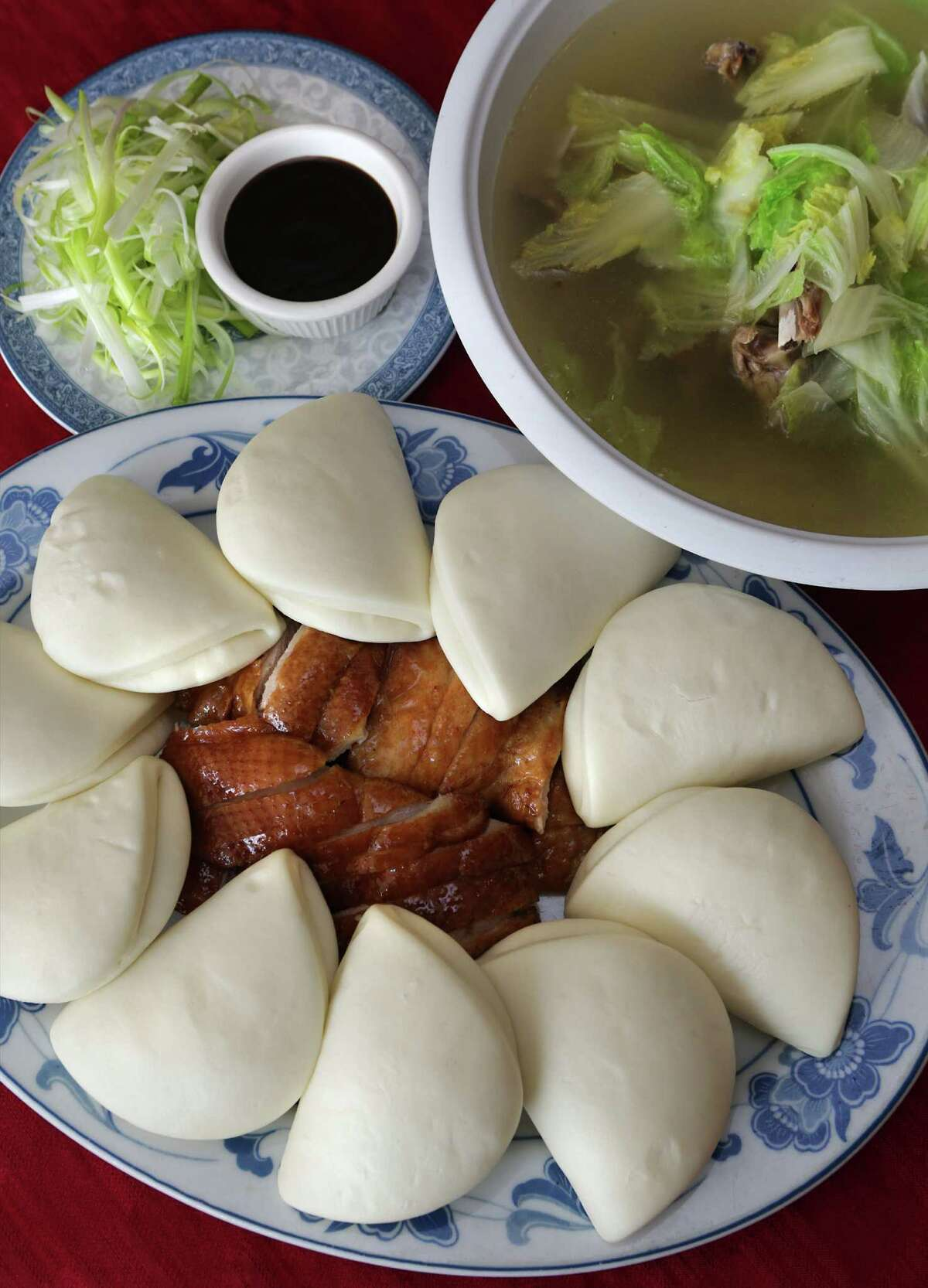 Kim Wah serves excellent authentic Chinese food, including Peking Duck served with Duck Soup.