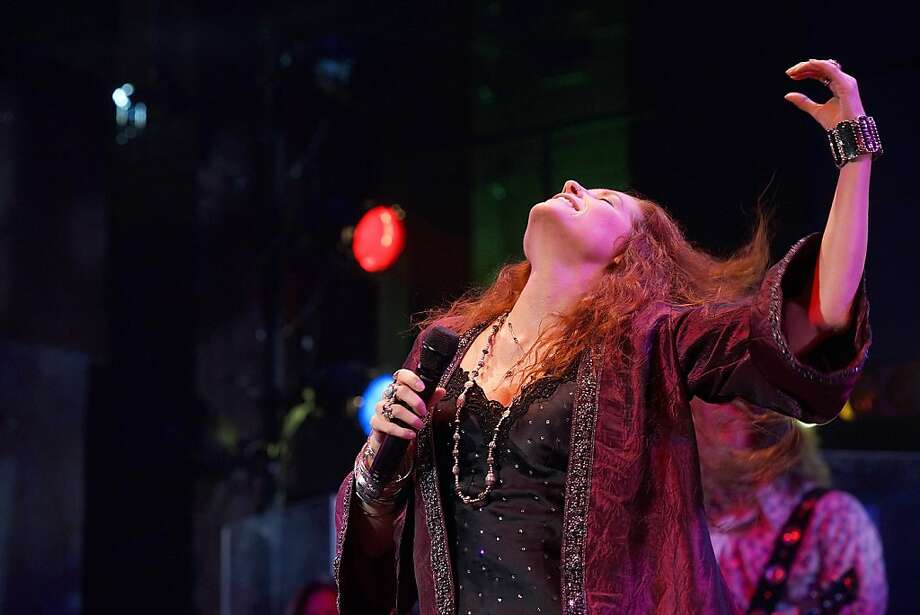 "Kacee Clanton pulls out the stops as Janis Joplin in San Jose Repertory Theatre's ""One Night With Janis Joplin."" Photo: Kirk Tuck"
