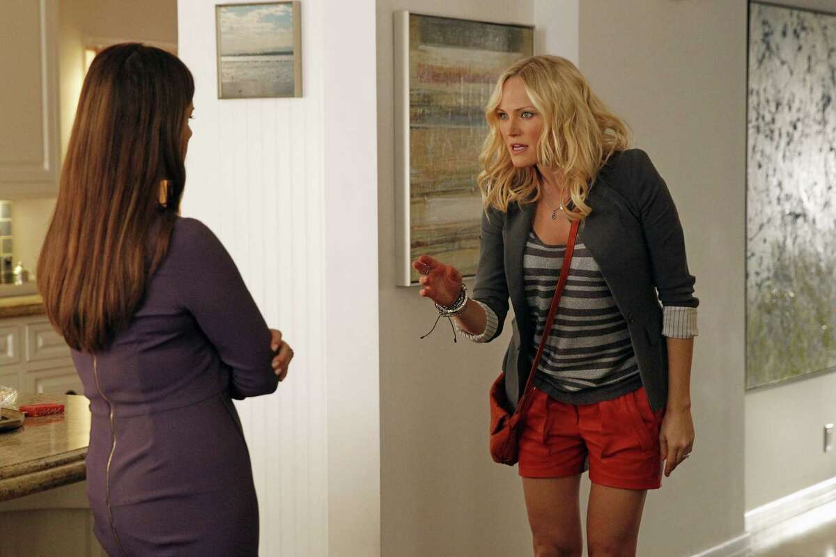 Marcia Gay Harden (left) and Malin Akerman in a scene from