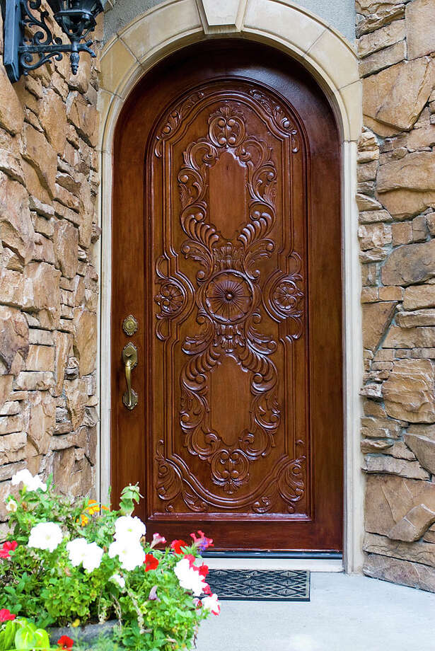 Front door of 12815 Issaquah-Hobart Road S.E. It's listed for $679,000. Photo: Linda DeMarre