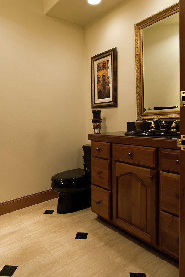 Guest bathroom of 12815 Issaquah-Hobart Road S.E. It's listed for $679,000. Photo: Linda DeMarre