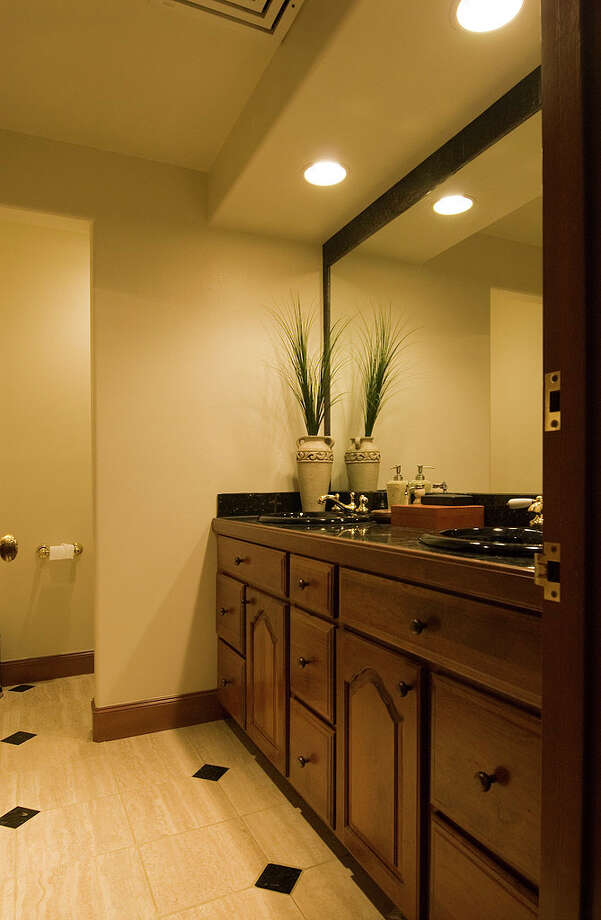 Upstairs bathroom of 12815 Issaquah-Hobart Road S.E. It's listed for $679,000. Photo: Linda DeMarre