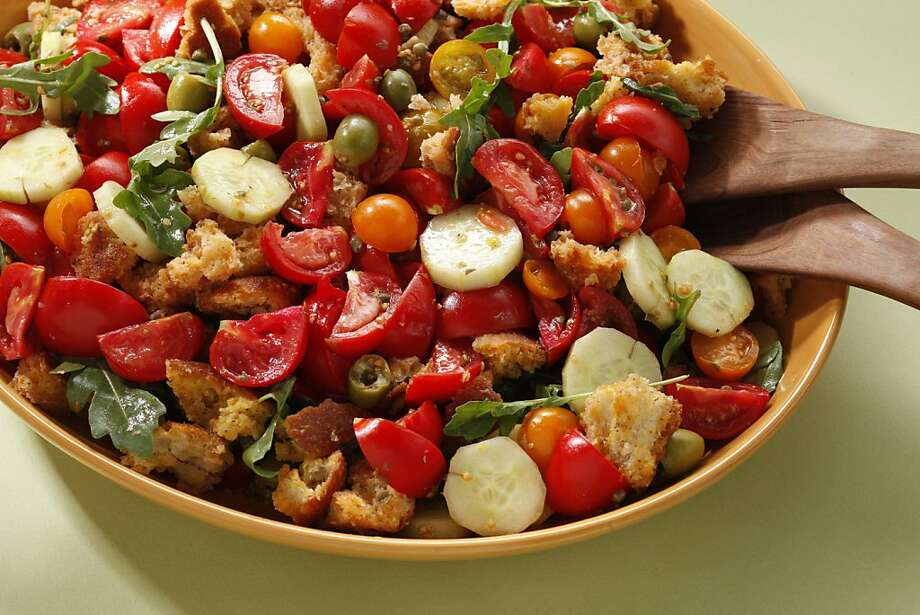 Early Girl Tomatoes With Pane al Pomodoro & Olives Photo: Craig Lee, Special To The Chronicle
