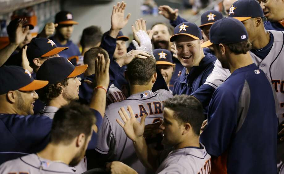 Sept. 10: Astros 13, Mariners 2The Astros tattooed Mariners pitchers to the tune of 13 runs in Seattle, taking the second straight game in the three-game set.  Record: 49-96. Photo: Ted S. Warren, Associated Press