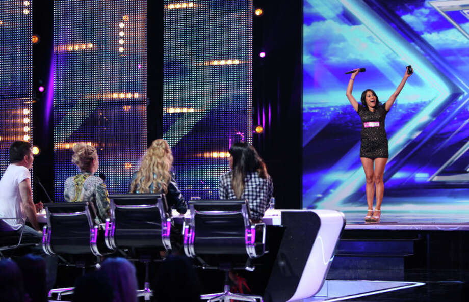 THE X FACTOR: Contestant Yosselin Marquez pefrorms in front of the Judges on THE X FACTOR airing Thursday, Sep. 12 (8:00-10:00 PM ET/PT) on FOX. CR: Ray Mickshaw/ FOX. © Copyright 2013 / FOX.