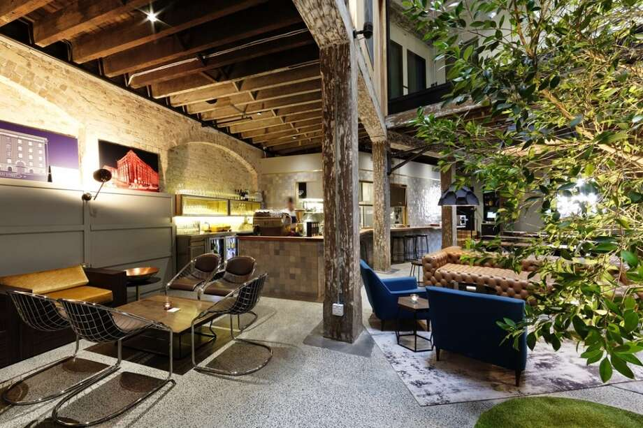 Another view of the lobby at 1888 Hotel in Sydney, Australia.