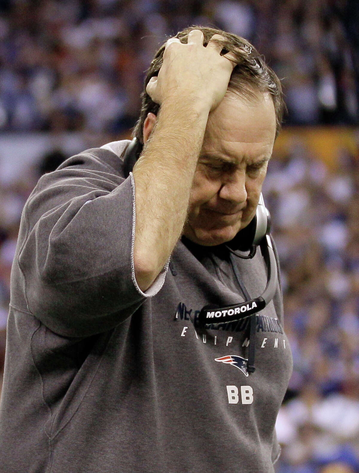 Bill Belichick -- Yes, he has three Super Bowl titles. But the biggest complaint is that he whined about the Reliant Stadium turf after the Texans' win in 2009 after Wes Welker blew out his ACL. Hey, Hoodie, it could have happened anywhere. Loser. And then his Patriots burst the Texans' 2012 Super Bowl bubble, handing Houston a 41-28 loss in the divisional round.