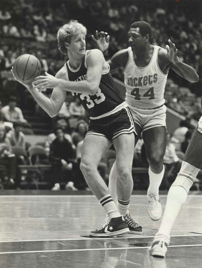 Larry Bird -- Not for who he was but for what he did to us. His Celtics beat the Rockets in two NBA Finals in the 1980s. Photo: Steve Campbell, Houston Chronicle / Houston Chronicle