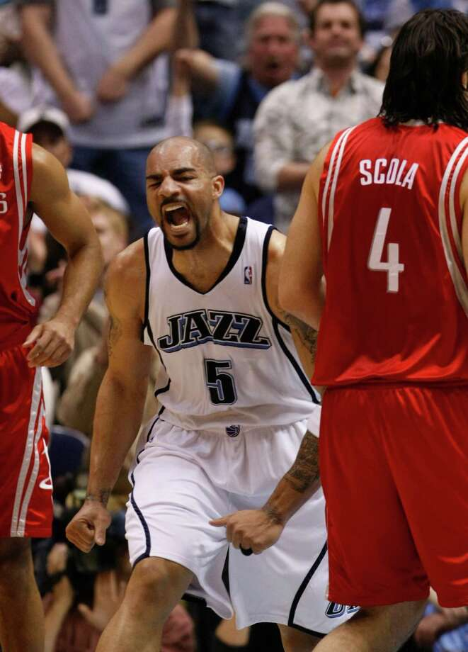 Carlos Boozer -- Became a nightmare for the Rockets in the 2007 NBA playoffs. Scored 41 points in Game 2 of the first-round series and had 35 points and 14 rebounds in the Game 7 Jazz victory. A pox on you, too, Carlos! Photo: Nick De La Torre, Houston Chronicle / Houston Chronicle