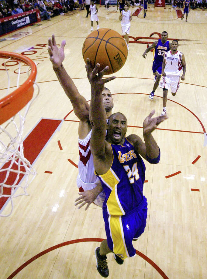Kobe Bryant -- Kobe has helped the Lakers eliminate the Rockets three times in his career, most recently in that seven-game series in 2009, when he went off for 40 in Game 2. Yeah, you got game, Kobe. But take it somewhere else. Photo: Billy Smith II, Houston Chronicle / DirectToArchive