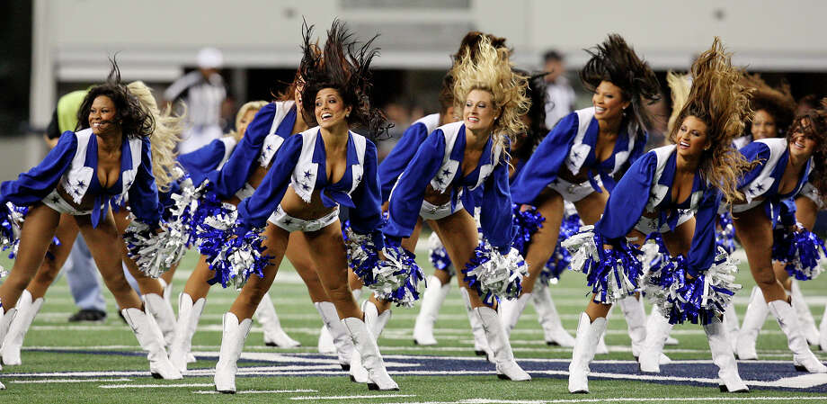 Dallas Cowboys cheerleaders -- Houston hates Dallas. And especially the Cowboys. The cheerleaders are the most recognized symbol of the Cowboys. Do like those boots, though. And the hair. My God, the hair. Photo: Edward A. Ornelas, Hearst / San Antonio Express-News