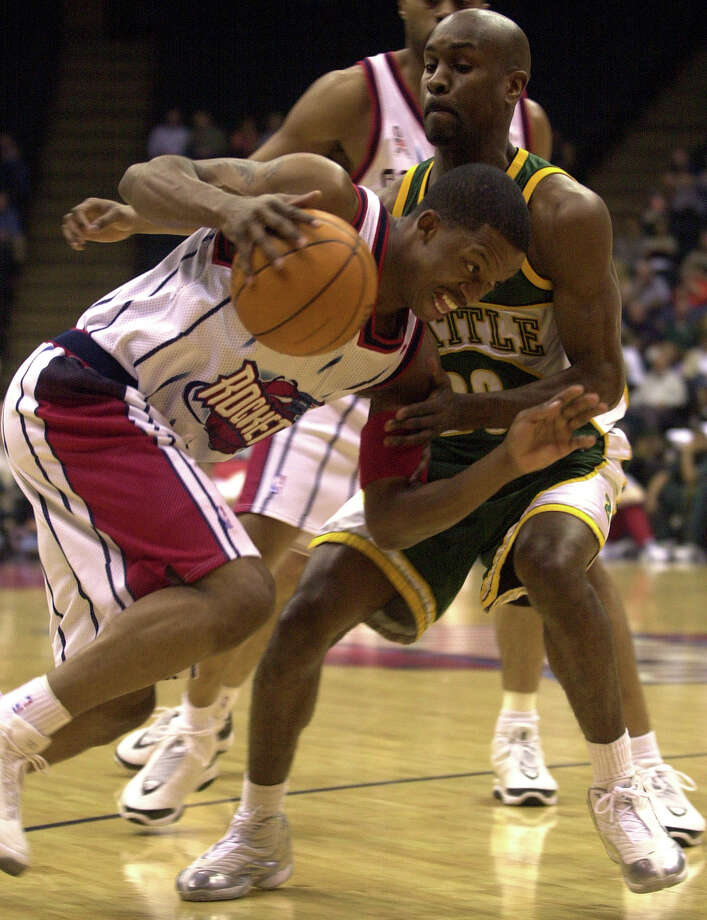 Gary Payton -- Damn, he was irritating. Good, but really, really irritating. Photo: Christobal Perez, Houston Chronicle / HOUSTON CHRONICLE