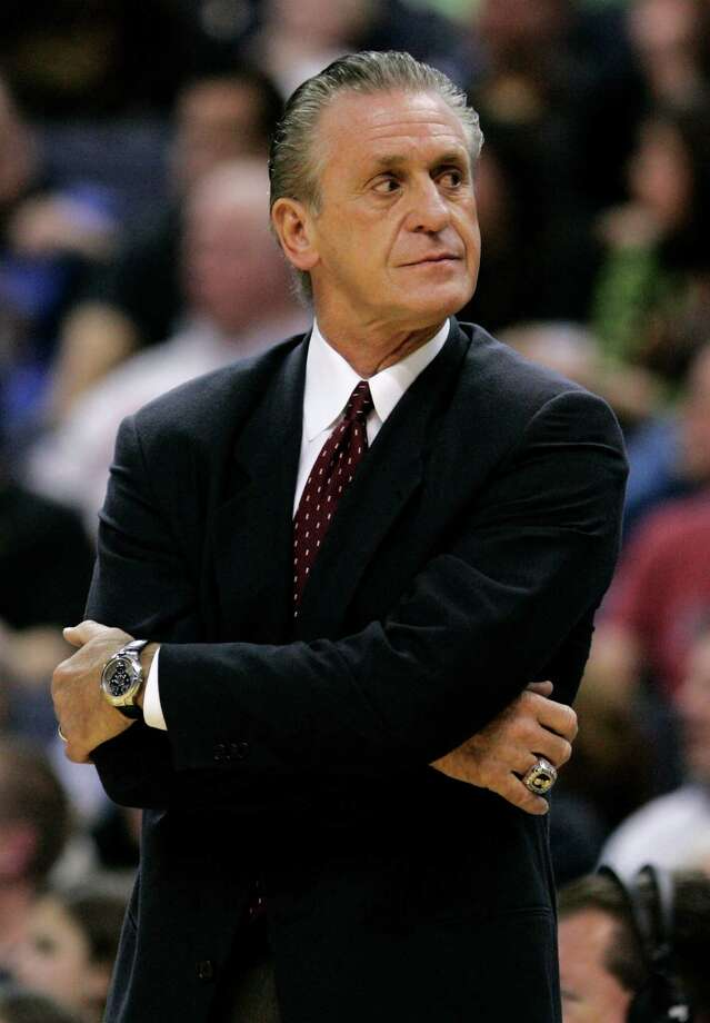Pat Riley -- The slicked-back hair. The Joe the Tailor suits. The spread collar. Too cool for words. But we trumped you, Riles in the '94 Finals. Photo: Haraz N. Ghanbari, Associated Press / AP