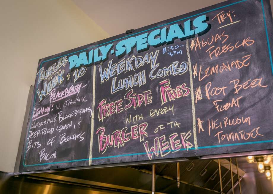 The menu board at Victory Burger in Oakland. Photo: John Storey, Special To The Chronicle