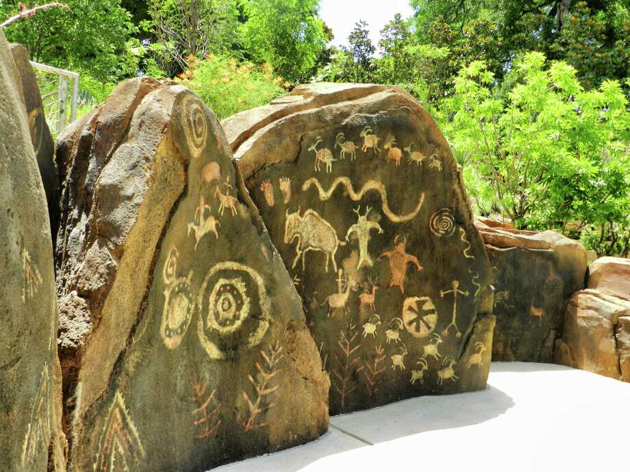 The Petroglyph Walk is inspired by Native Americans. Photo courtesy of the Dallas Arboretum