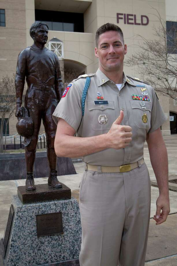 Roy May Jr. enrolled at Texas A&M after a 12-year Army career.