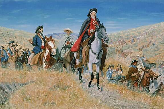 This is a generic illustration of the historic Juan Bautista de Anza National Historical Trail which recognizes the 18th century route taken by Anza and his military and settlers party of discovery from Sonora, Mexico to CaliforniaÕs Bay Area. The trail promotes the preservation of, public access to and enjoyment and appreciation of historic and cultural resources and associated outdoor areas related to the Anza expedition, its descendants and the American Indians who allowed them passage.  NPS headquarters for this is in Oakland, CA.