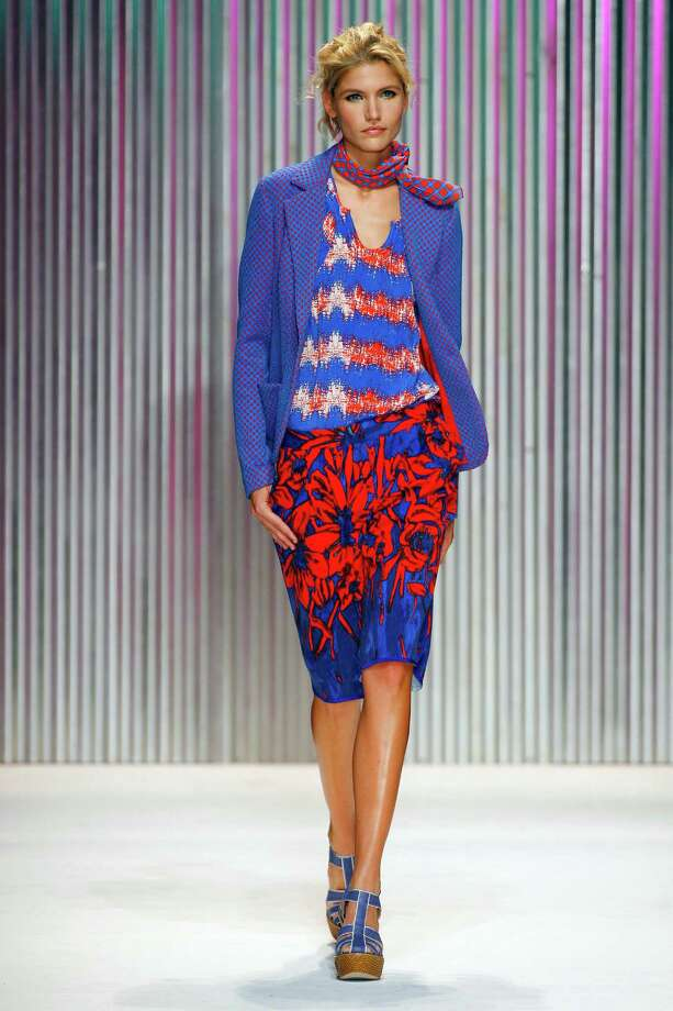 In this photo provided by Tracy Reese, the Tracy Reese Spring 2014 collection is modeled during Fashion Week, Sunday, Sept. 8, 2013, in New York. (AP Photo/Tracy Reese, Edward James) ORG XMIT: NYKD170 ORG XMIT: MER2013090821062915 Photo: Edward James / Tracy Reese
