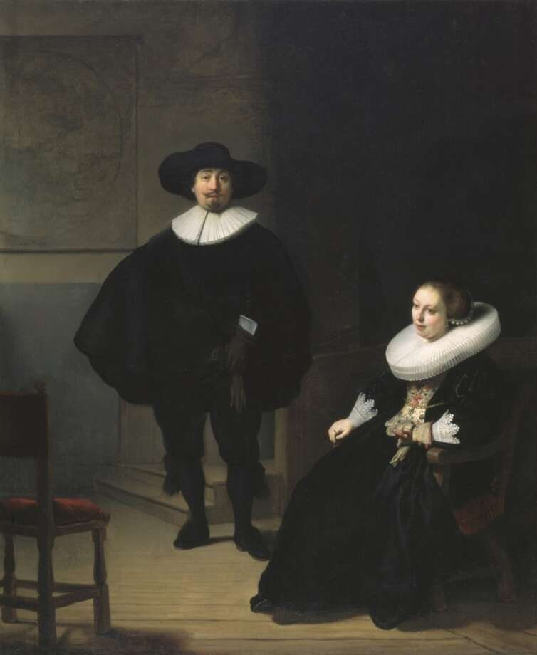 Lady and a Gentleman in Black by Rembrandt, stolen in the 1990 art heist from Boston's Gardner Museum