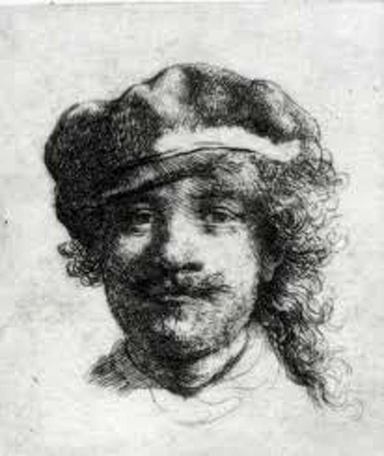 Rembrandt's self-portrait, an etching stolen from the Gardner Museum in Boston