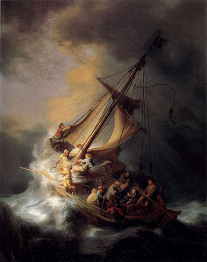 The Storm on the Sea of Galilee by Rembrandt, stolen from the Isabella Stewart Gardner Museum