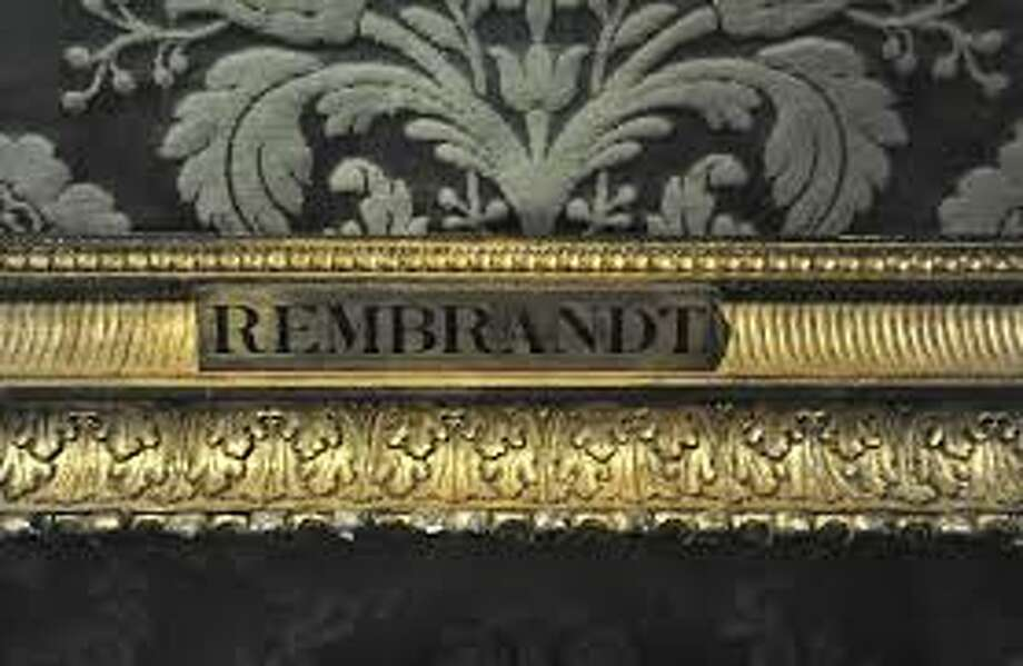 An empty frame awaits the return of a Rembrandt masterwork