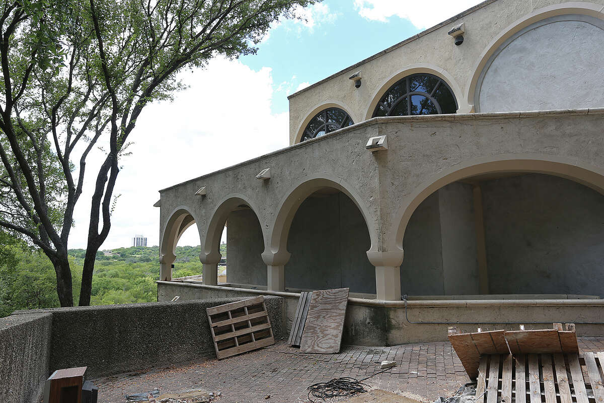 The former Straus residence features a series of arches on each of the four floors. It is being remodeled by new owners.