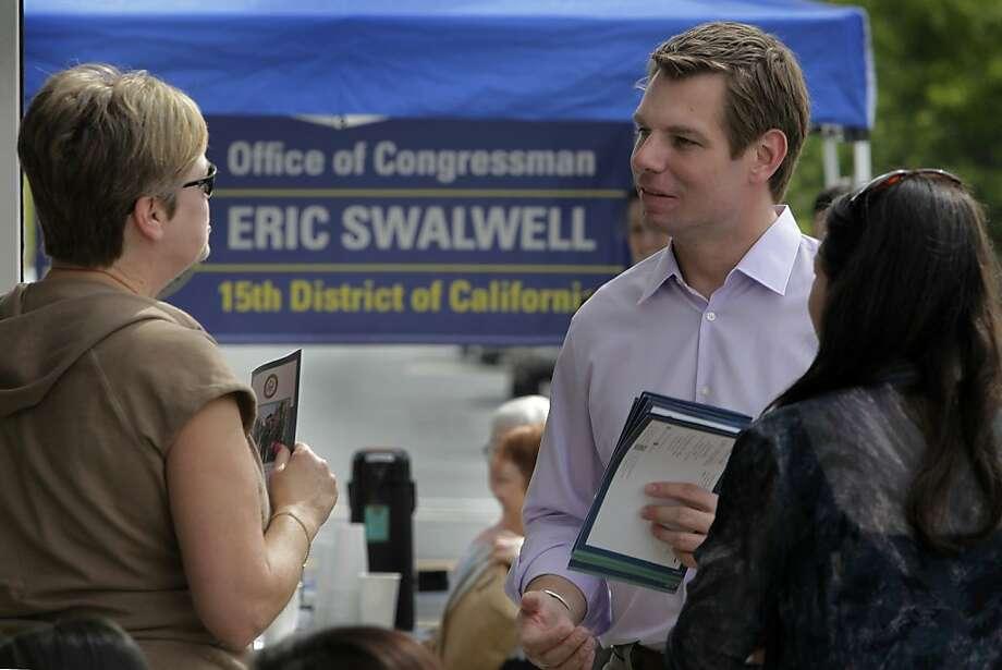 Reps. Eric Swalwell and Steve Pearce co-sponsored HR287. Photo: Paul Chinn, The Chronicle