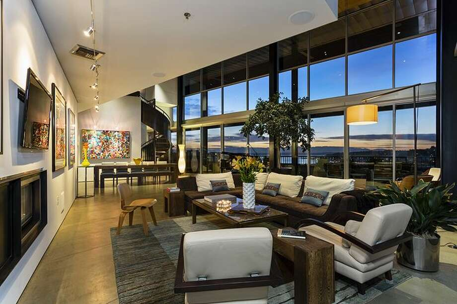 Living room of 2720 Third Ave., penthouse 2. It's listed for $1.995 million. Photo: Courtesy Bob Bennion, Windermere Real Estate