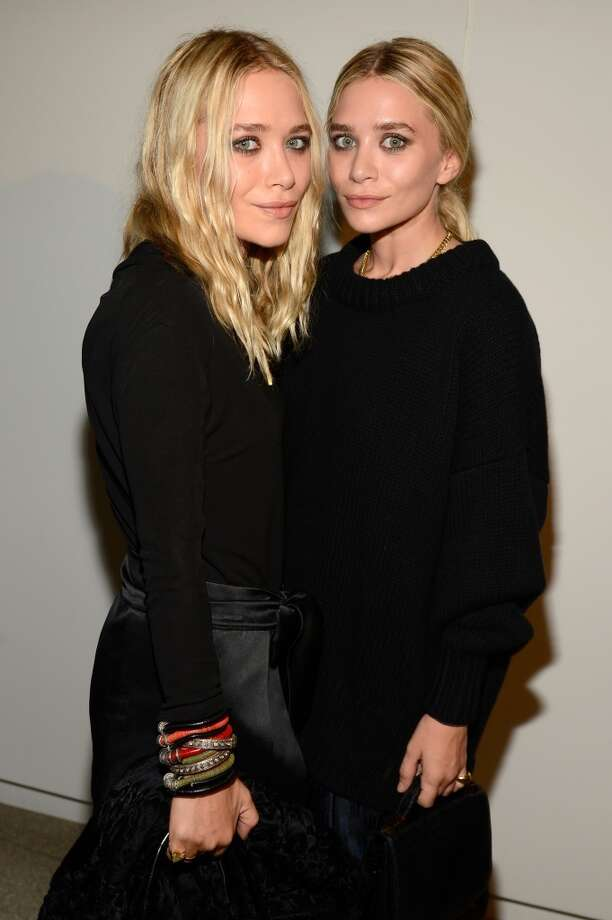 "(L-R) Mary-Kate Olsen and Ashley Olsen attend the Estee Lauder ""Modern Muse"" Fragrance Launch Party at the Guggenheim Museum on September 12, 2013 in New York City.  (Photo by Kevin Mazur/Getty Images for Estee Lauder) Photo: Kevin Mazur"