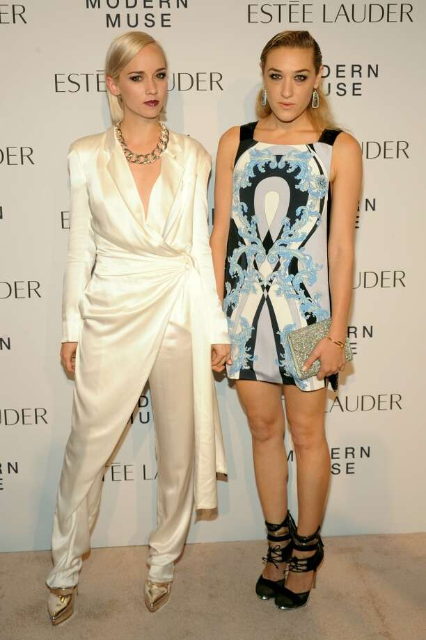 "DJ Mia Moretti (R) and Margot of The Dolls attend the Estee Lauder ""Modern Muse"" Fragrance Launch Party at the Guggenheim Museum on September 12, 2013 in New York City.  (Photo by Bryan Bedder/Getty Images for Estee Lauder) Photo: Bryan Bedder"