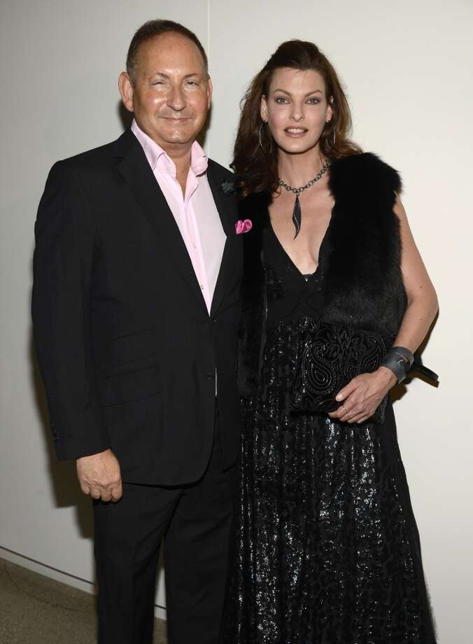 "Group president of The Estee Lauder Companies John Demsey and Model Linda Evangelista attend the Estee Lauder ""Modern Muse"" Fragrance Launch Party at the Guggenheim Museum on September 12, 2013 in New York City.  (Photo by Kevin Mazur/Getty Images for Estee Lauder) Photo: Kevin Mazur"