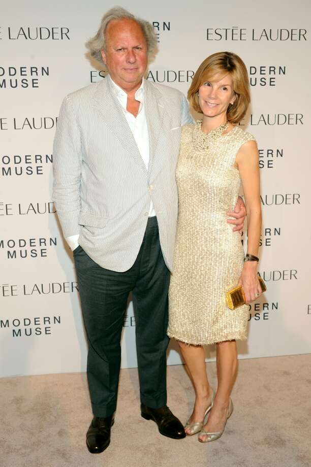 "Vanity Fair Editor in Chief Graydon Carter (L) and Anna Scott attend the Estee Lauder ""Modern Muse"" Fragrance Launch Party at the Guggenheim Museum on September 12, 2013 in New York City.  (Photo by Bryan Bedder/Getty Images for Estee Lauder) Photo: Bryan Bedder"