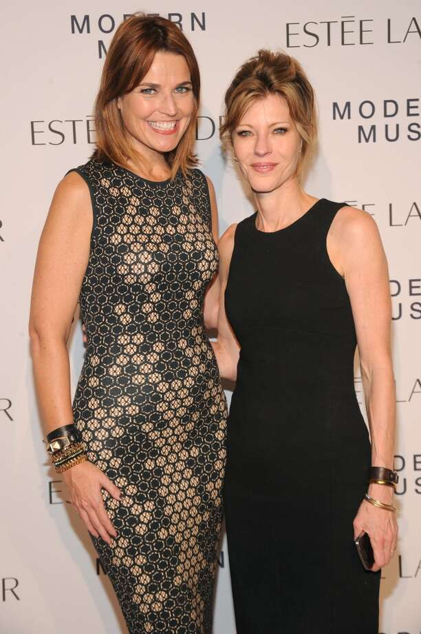 "News Anchor Savannah Guthrie and Editor in chief of Elle magazine Robbie Myers attend the Estee Lauder ""Modern Muse"" Fragrance Launch Party at the Guggenheim Museum on September 12, 2013 in New York City.  (Photo by Bryan Bedder/Getty Images for Estee Lauder) Photo: Bryan Bedder"