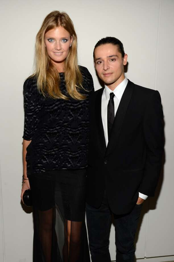 "Designer Olivier Theyskens (R) and model Constance Jablonski attend the Estee Lauder ""Modern Muse"" Fragrance Launch Party at the Guggenheim Museum on September 12, 2013 in New York City.  (Photo by Kevin Mazur/Getty Images for Estee Lauder) Photo: Kevin Mazur"