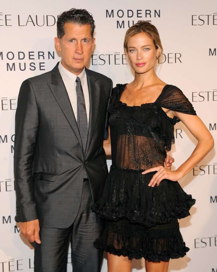 "W Magazine Editor Stefano Tonchi and model Carolyn Murphy attend the Estee Lauder ""Modern Muse"" Fragrance Launch Party at the Guggenheim Museum on September 12, 2013 in New York City.  (Photo by Bryan Bedder/Getty Images for Estee Lauder) Photo: Bryan Bedder"